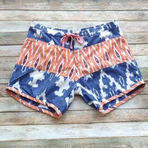Thaddeus O'Neil Blue and Orange Tie Shorts